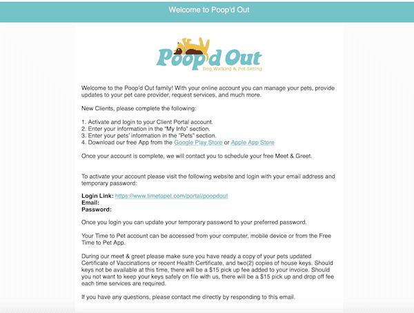 receive an e-mail